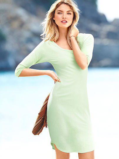 simple pale green summer dress 2014
