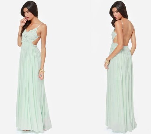 Crochet mint pastel maxi summer dress 2014