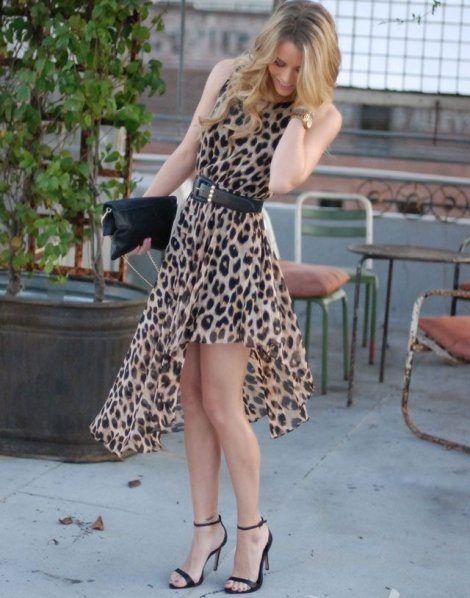 assymmetrical leopard summer dress 2014