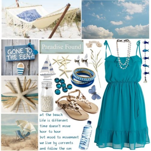 blue summer dress 2014 beach style