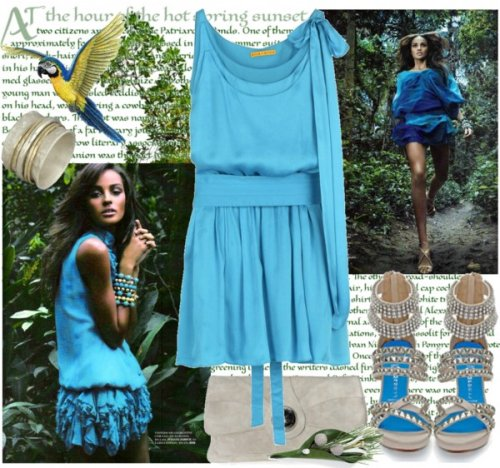 casual blue summer dress 2014