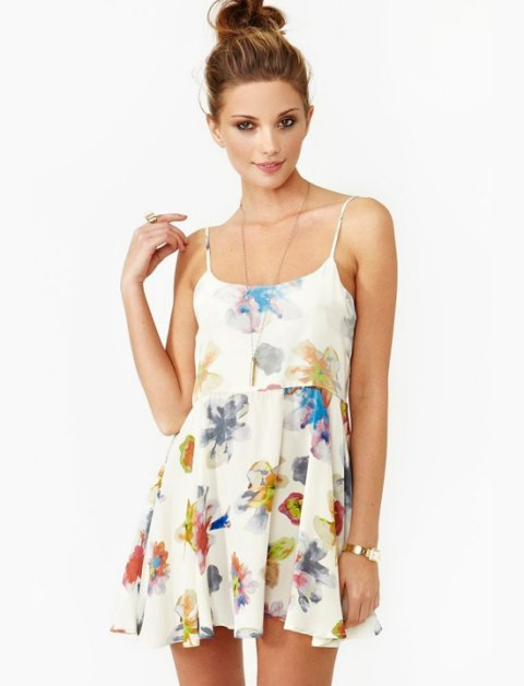 casual white floral summer dress 2014 Nasty Gal