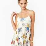 White Floral Print Summer Dresses 2014