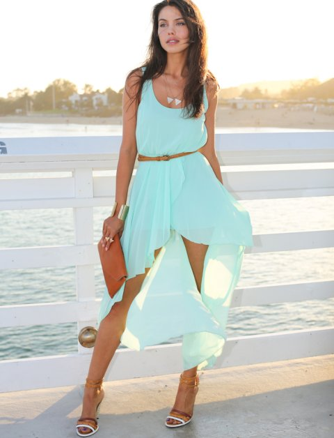 Beautiful Sky Blue Summer Dresses 2014