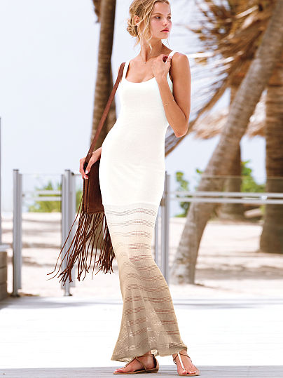 white beige ombre summer maxi dress 2014