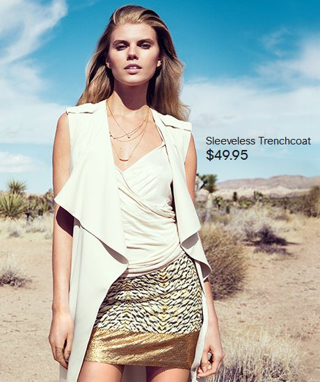 light top and gold skirt hm summer 2014