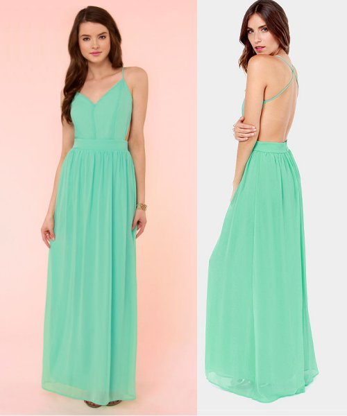 sexy mint bridesmaid summer dress 2014
