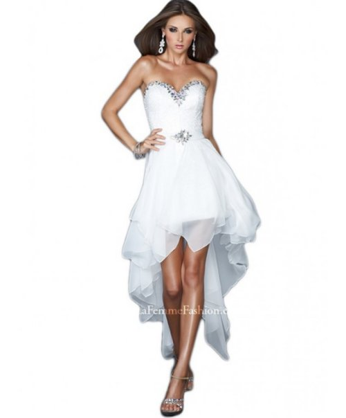 strapless high low wedding summer dress 2014