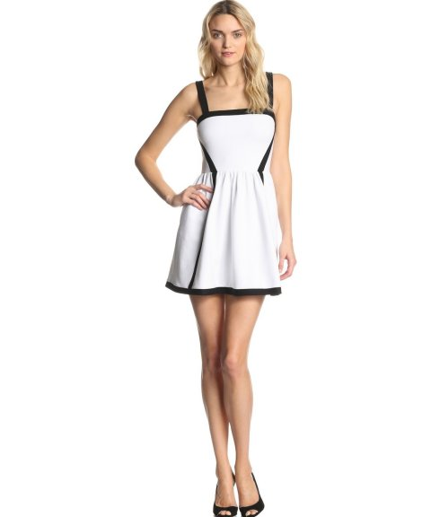 white and black summer cocktail dress 2014 by Juicy Couture