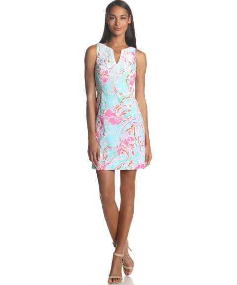 baby blue summer shift dress 2014 with pink jelly fish print by Lilly Pulitzer