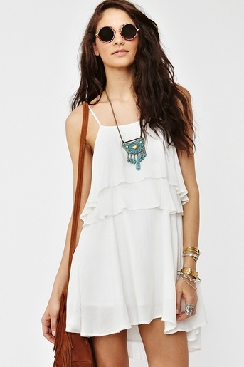 beautiful white flowy summer dress 2014