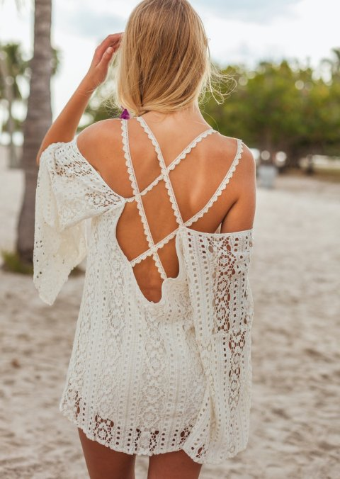 sexy white crochet summer dress with open back 2014-nicdelmar-