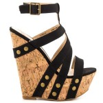 High Heel Cork Sandals 2014