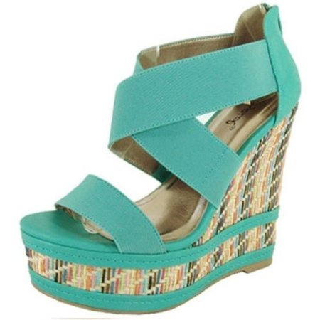 strappy mint wedge summer sandals 2014 by top moda