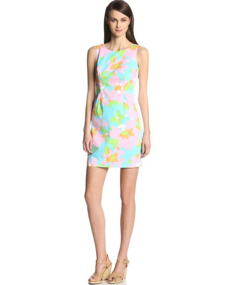 stunning blue-pink-green summer shift dress 2014 by Lilly Pulitzer