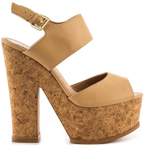 tan cork sandals 2014 by aldo