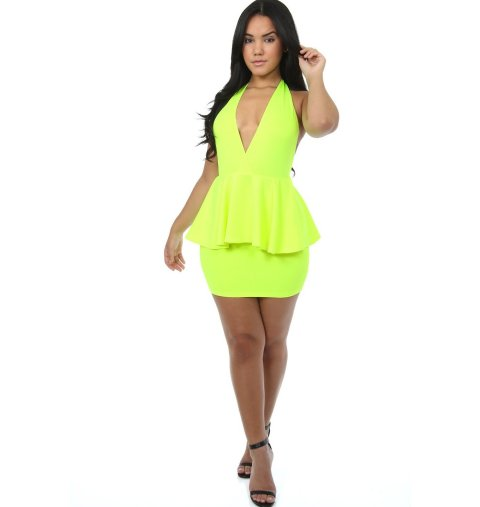 Short Neon Summer Dresses 2014
