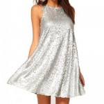 Silver Sequin Summer Dresses 2015