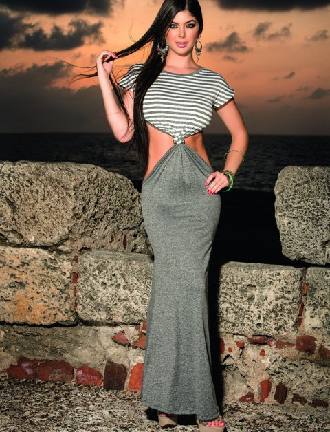 long grey mermaid maxi dress 2015 piratacouture