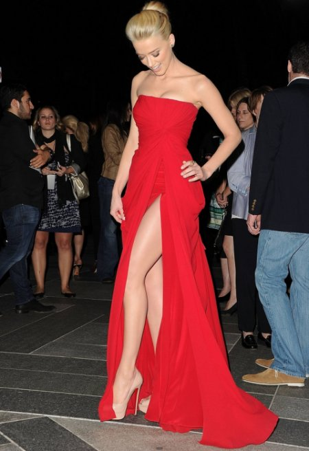 gorgeous long strapless red summer cocktail dress 2015