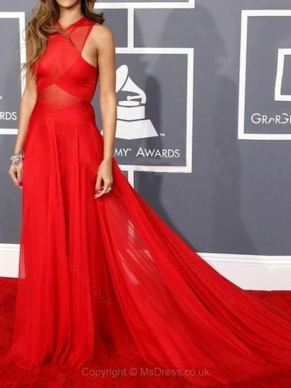 Rihanna red prom dress 2015