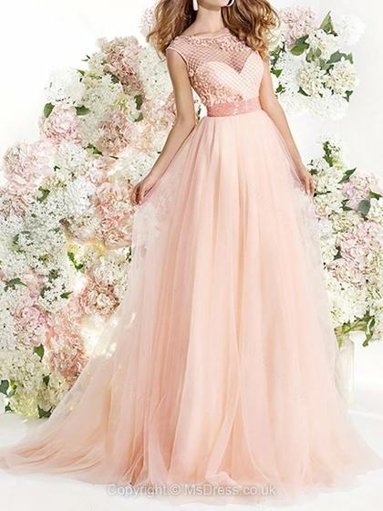 beautiful pink prom dress 2015