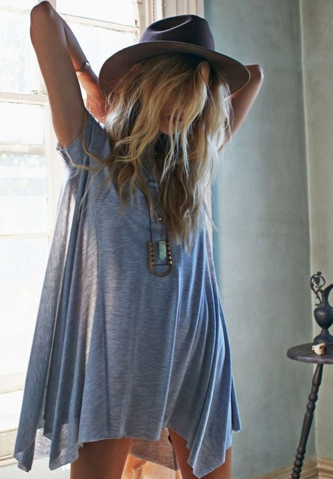 oversized grey summer tshirt dress 2015