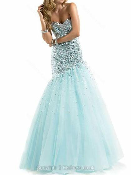 sequin blue prom dress 2015