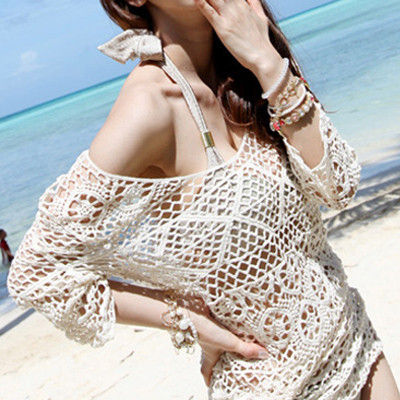 sexy crochet Gypsy beach cover up 2015