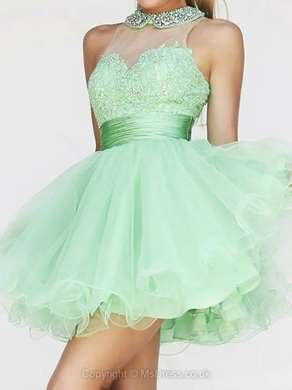 short green prom dress 2015