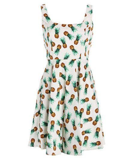 cute pineapple print summer dress 2015 by Pretty Attitude