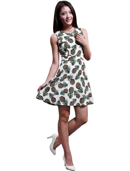 cute pineapple summer dress 2015 by Allegra K