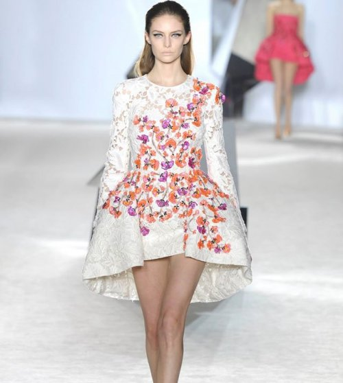 gorgeous white floral summer wedding dress 2015 by Giambattista Valli