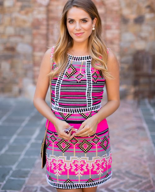 pink spring summer dress 2015 by galmeetsglam