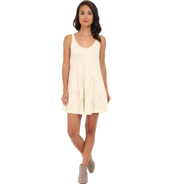 casual beige lace summer dress 2015 by Brigitte Bailey