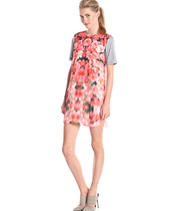 casual blurred floral t shirt dress 2015 by findersKEEPERS