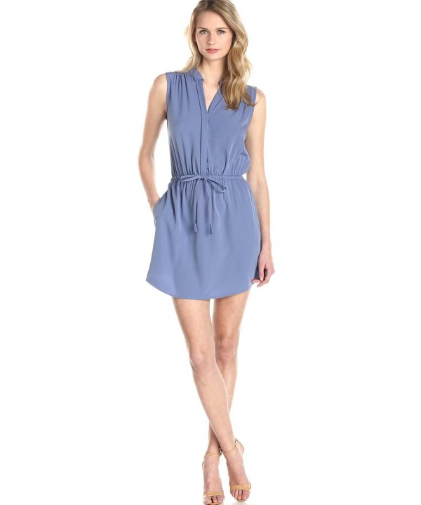 casual shirt style summer dress in blue by RD Style 2015