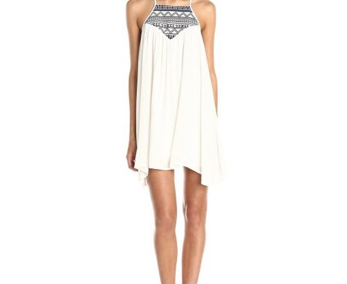 cheap white sundress with aztec detail Jack