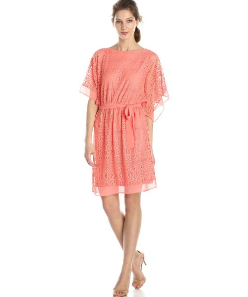 coral lace cheap dress for summer AGB