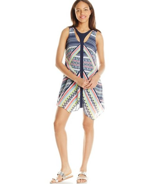navy white cheap casual dress for summer My Michelle
