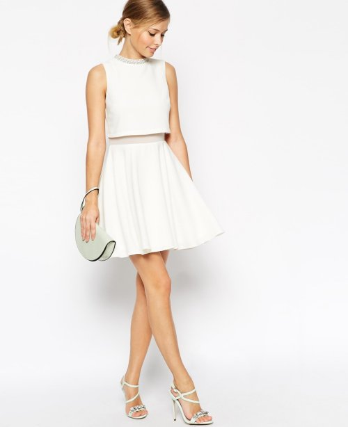 white crop top cheap summer dress asos