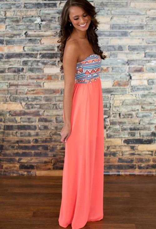 blush long summer dress for juniors