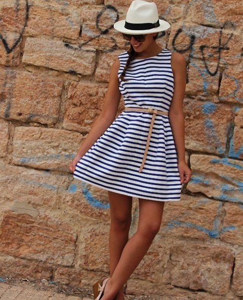 casual striped summer dress for juniors
