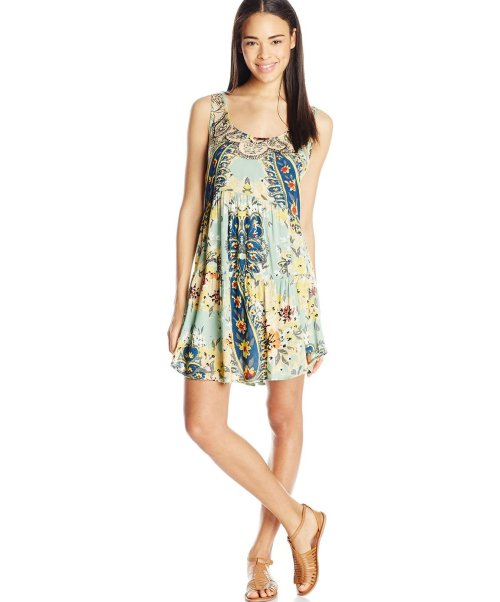 cheap mint print sundress for juniors Angie