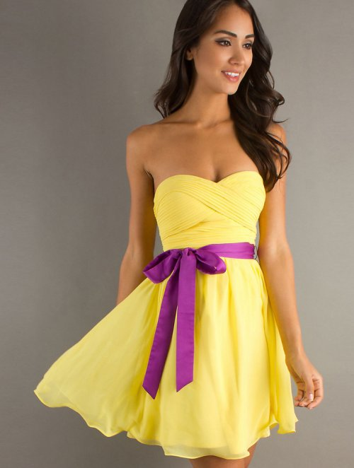 formal yellow summer dress for juniors