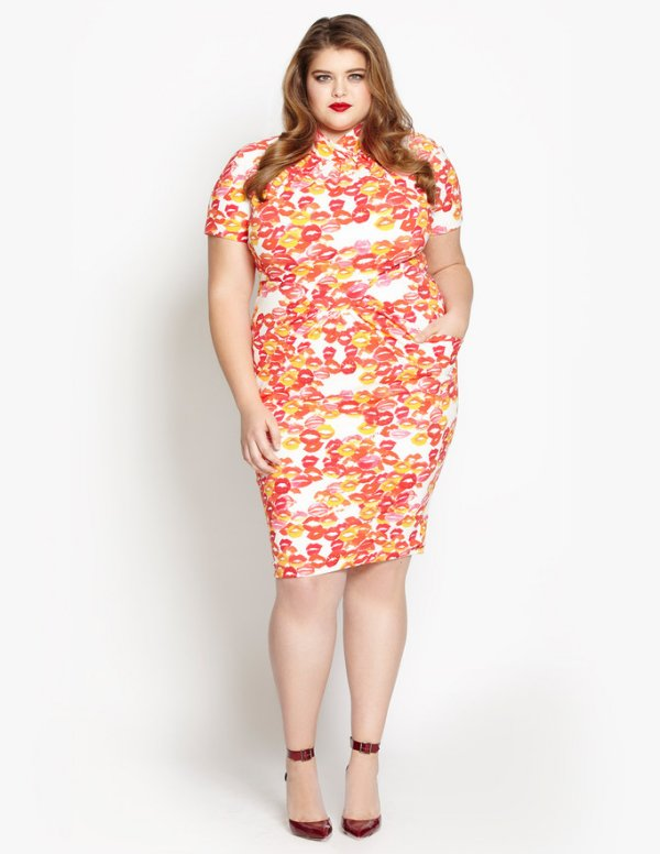 beth ditto plus size lipstick kisses summer dress 2016