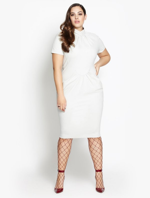 beth ditto plus size white summer dress 2016
