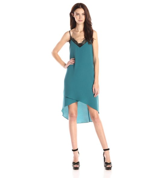 cheap green slip summer cocktail dress BCBGMAXAZRIA