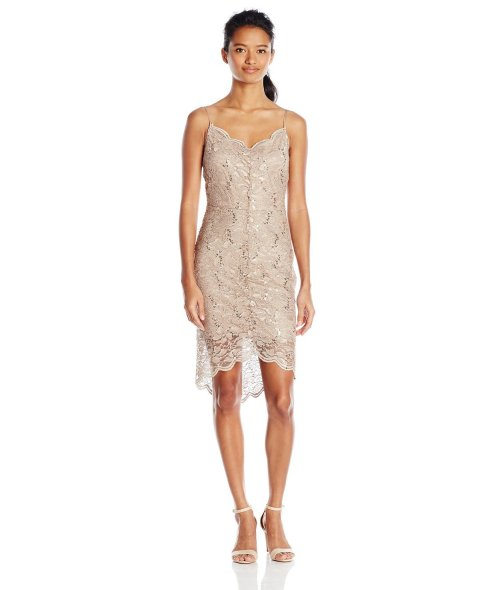 cheap nude gold lace cocktail summer dress Jump