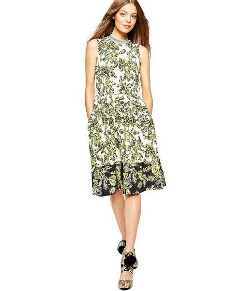 cheap stylish retro floral summer dress with pockets Merry Mou Store